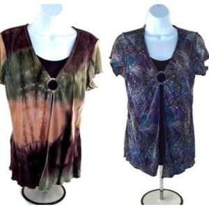 Brittany Black M Womens Blouse Bundle Short Sleeve